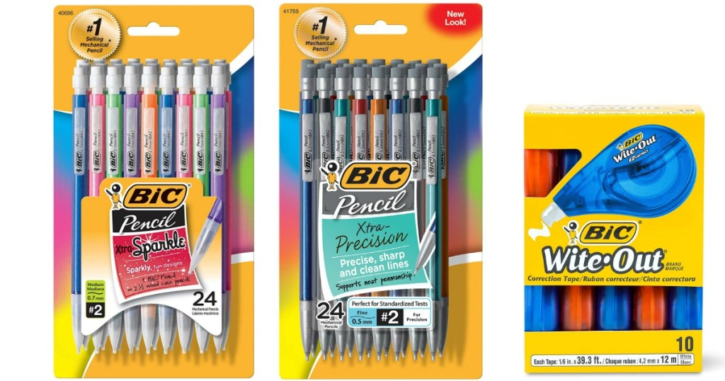 2 packages of BIC mechanical pencils and wite-out