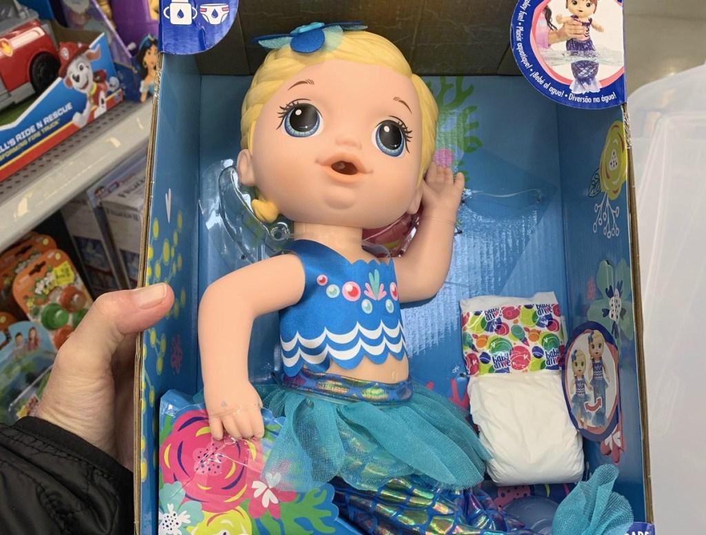 Baby Alive Shimmer & Splash Mermaid