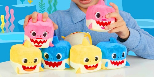 WowWee Pinkfong Baby Shark Official Song Plush Cubes Only $4.73 (Regularly $8)