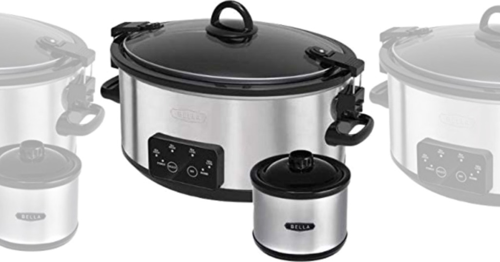 Large slow cooker with small dip size slow cooker