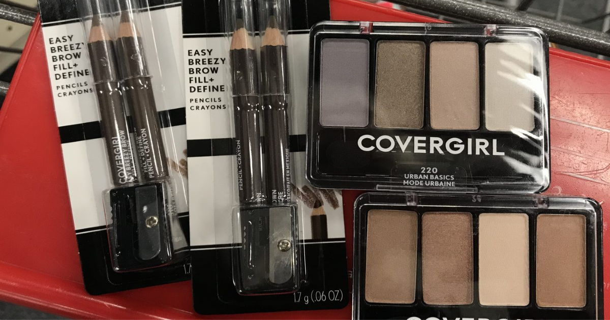 Covergirl Cosmetics in basket at CVS
