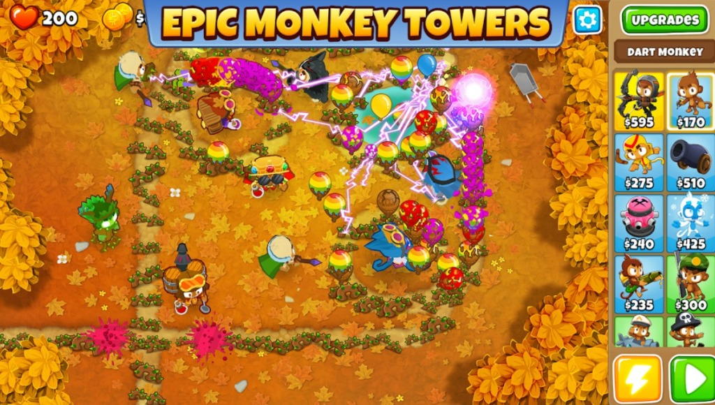 Screen shot of a monkey themed strategy game