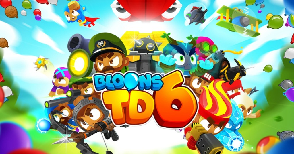 Logo and characters from the Bloons TD 6 app for ios and andriod