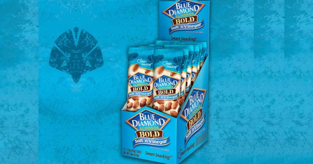 assortment of Blue Diamond Almonds Bold Salt & Vinegar individual packs