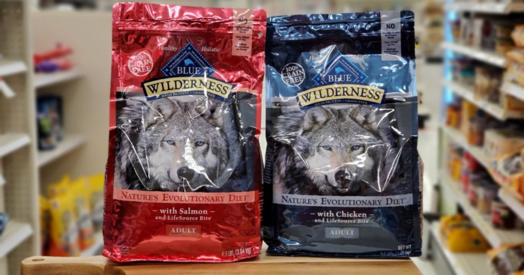 two bags of Blue Wilderness Dog Food in target