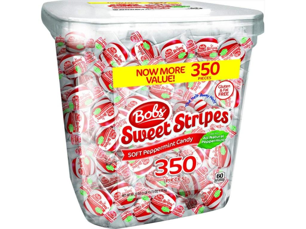 bob's sweet stripes candy tub