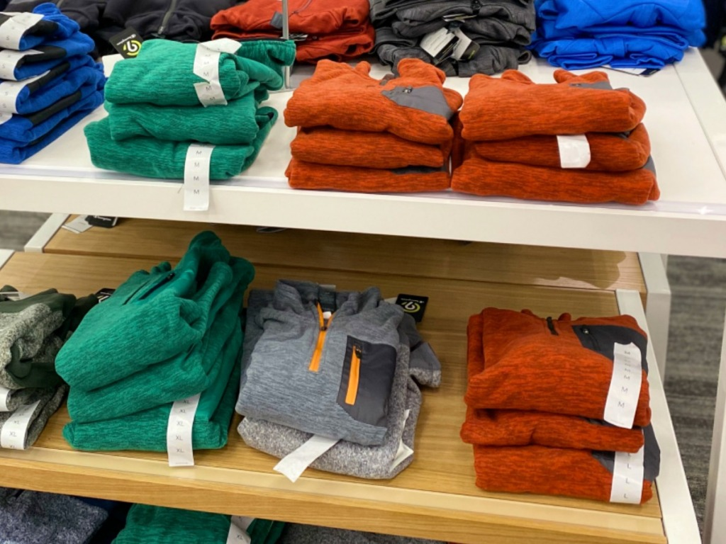 In-store display of boys C9 Athletic apparel