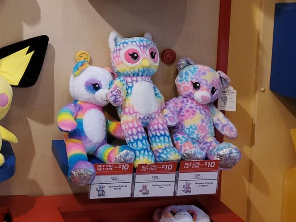 Build A Bear Rainbow Stuffed Animals