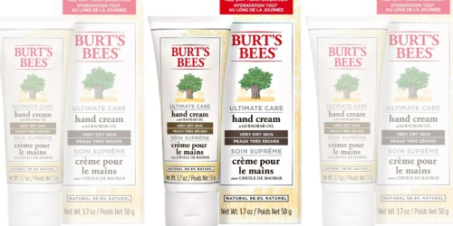 Burt's Bees Ultimate Care Hand Cream Only $4.96 Shipped on Amazon