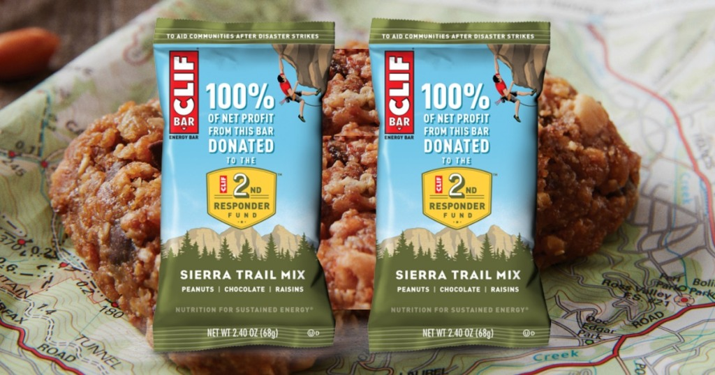 two clif bars in front of a granola bar