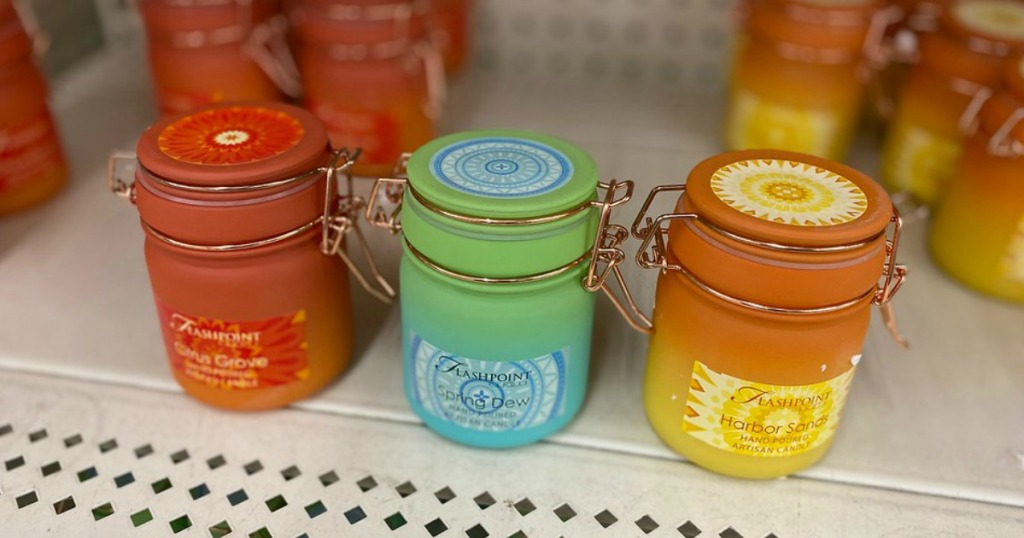 Candle Jars at Dollar Tree on the shelves