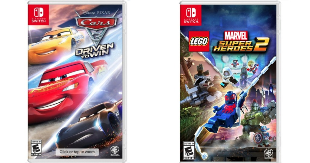 Cars 3 or Marvel Super Heroes 2 Switch Games