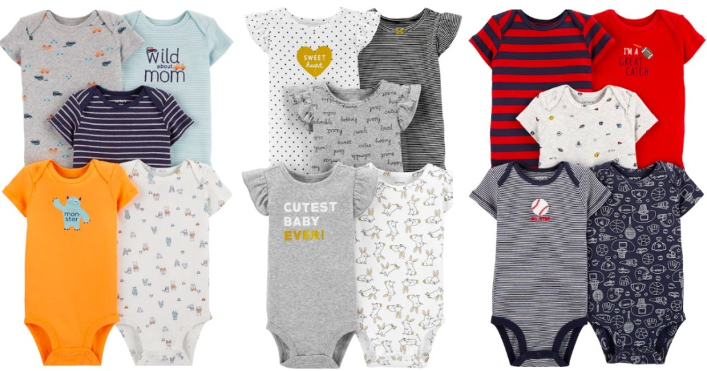 lots of Carter's Baby Onsies