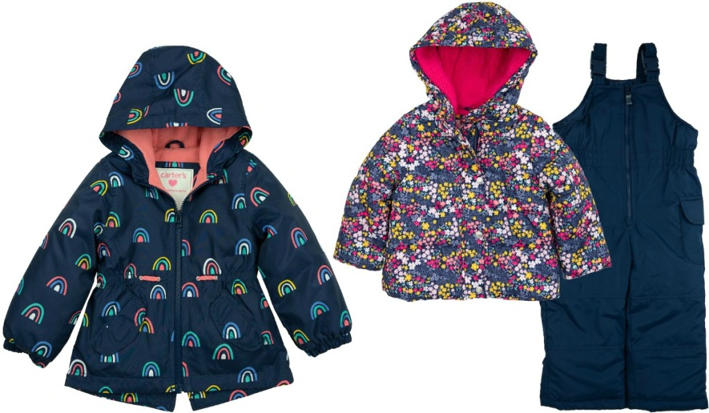 Carter's jackets in two styles with pair of snow pants