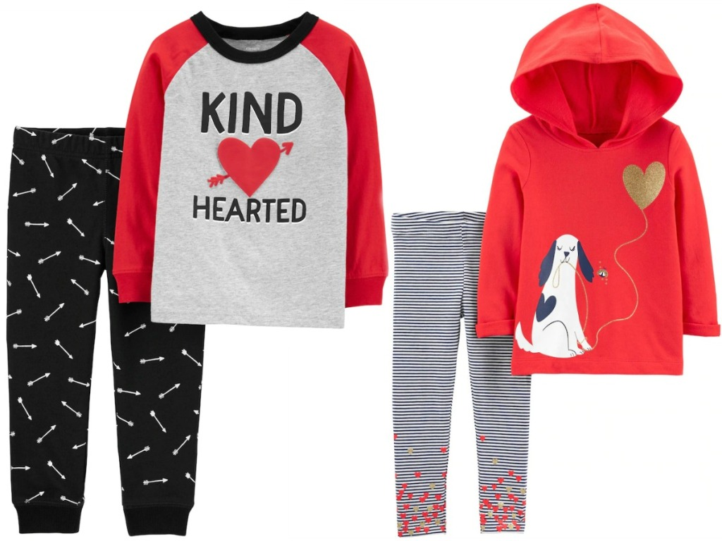 Valentine's Day themed toddler kids outfits