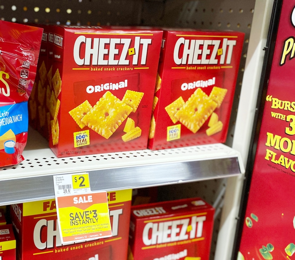 CheezIt Crackers at Dollar General