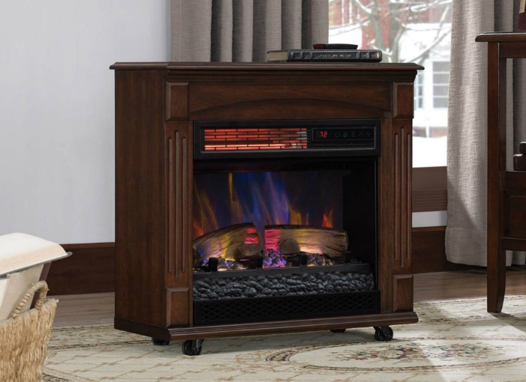 Medium sized portable electric fireplace