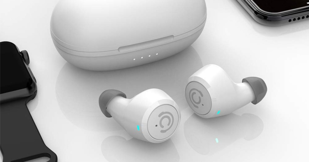 white Chisana Wireless Bluetooth Earbuds
