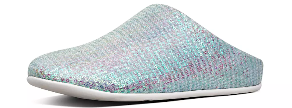 slippers with sequins on them