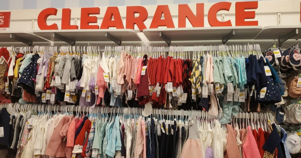 Clearance Carter's Apparel on the racks at Carter's store