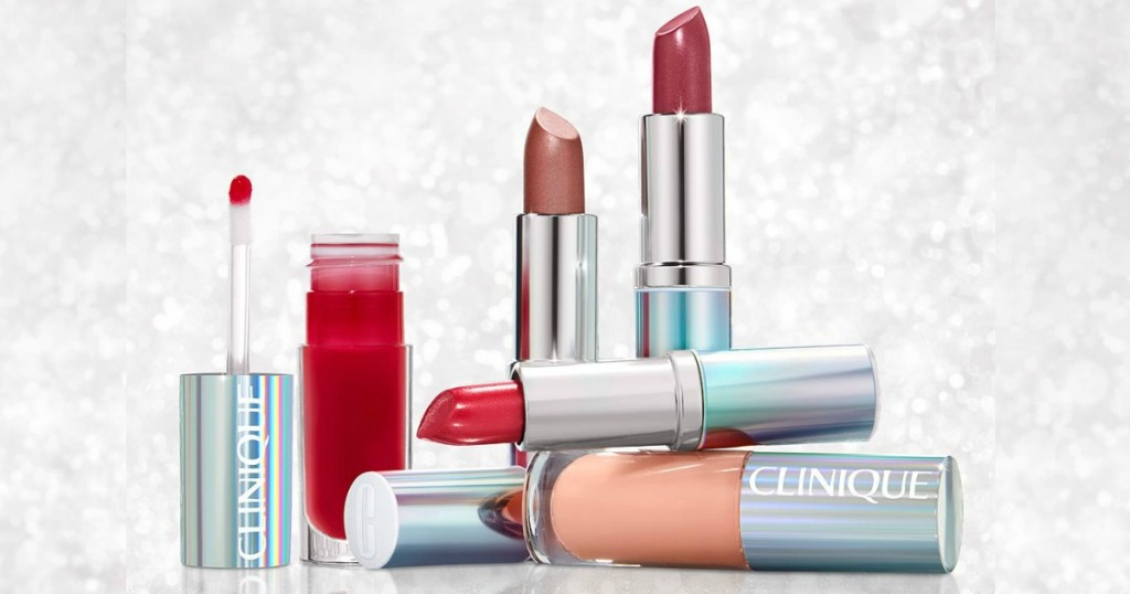 several tubes of lipstick displayed next to each other