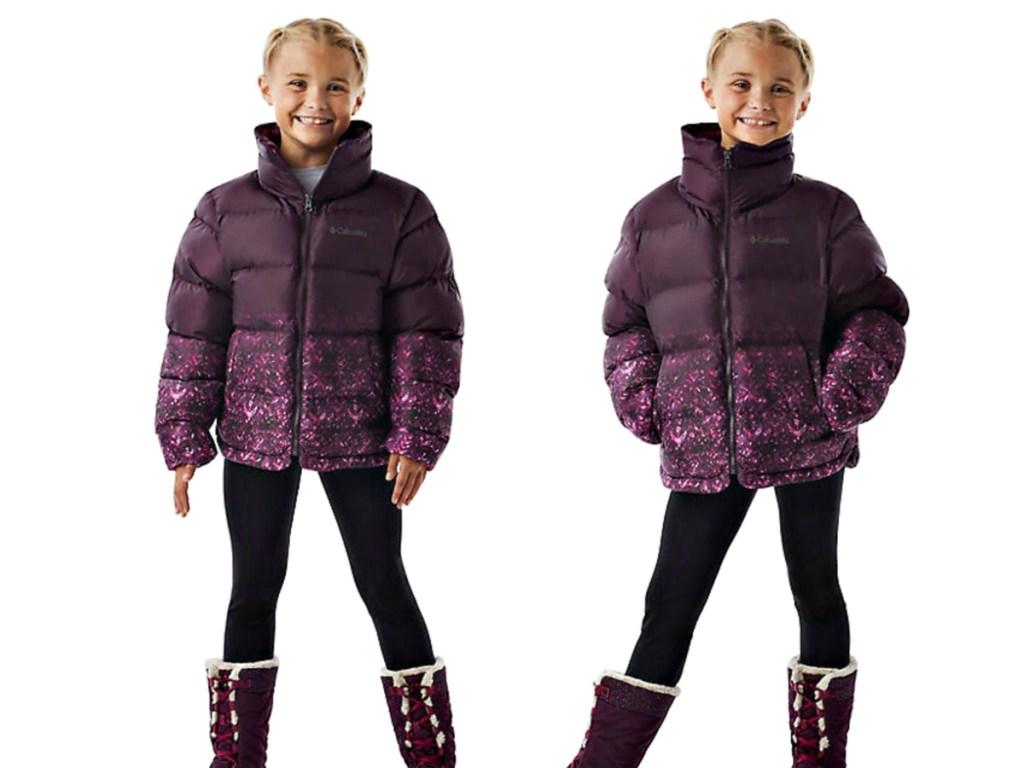 Columbia Girls' Disney Anna Puffer Jacket