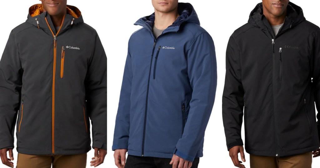 Men's Wearing Columbia Winter Jackets