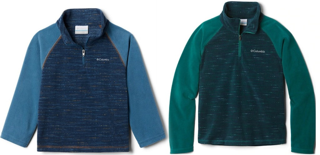 Columbia Toddler Boy Fleece pullovers in two colors