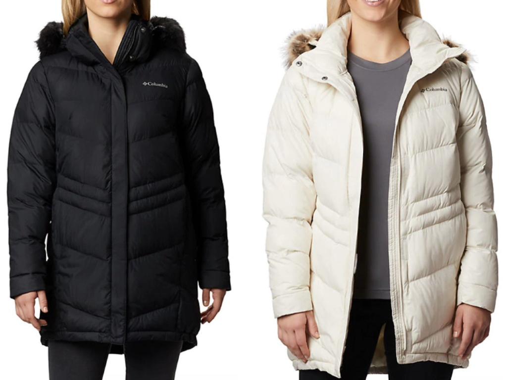 Women Wearing Columbia winter jackets