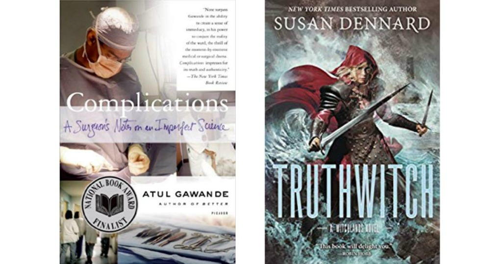 Complications and Truthwitch Kindle Book Covers
