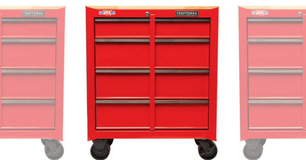 Craftsman tool cabinet in red