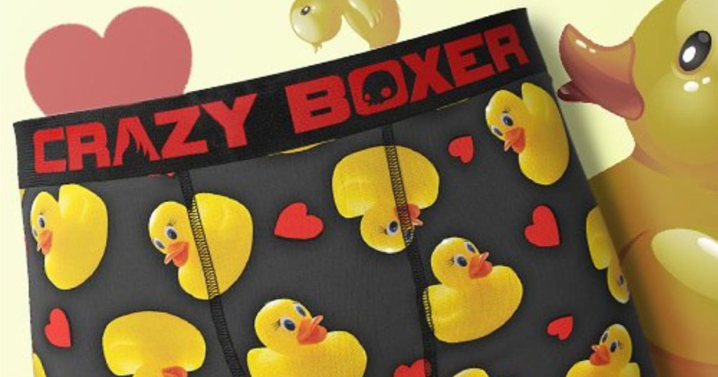Crazy Boxers Rubber Duckies with rubber duckies in the background