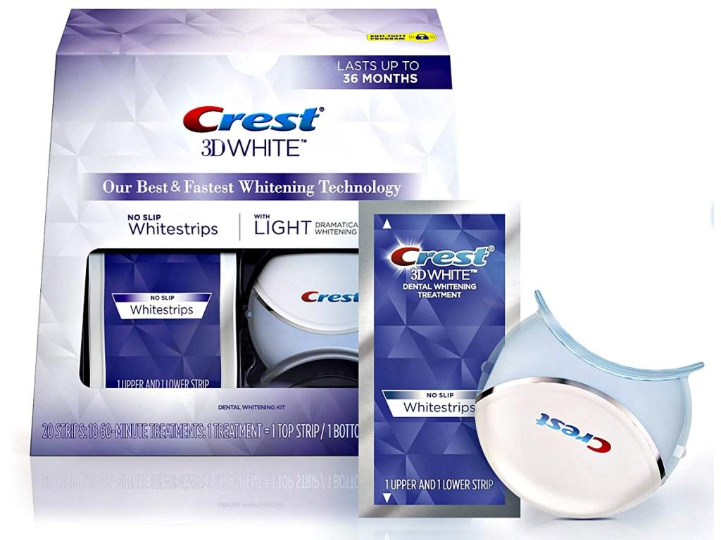 Crest 3d White Whitestrips W Light Teeth Whitening Kit Only 16