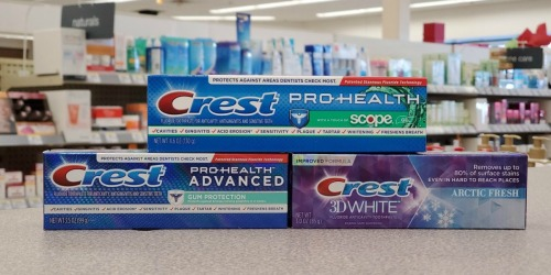 Three Better Than FREE Crest Toothpastes or Mouthwashes After Walgreens Rewards