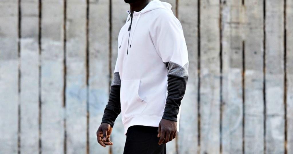 DSG Men's Everyday Performance Fleece 1/2 Zip Hoodie