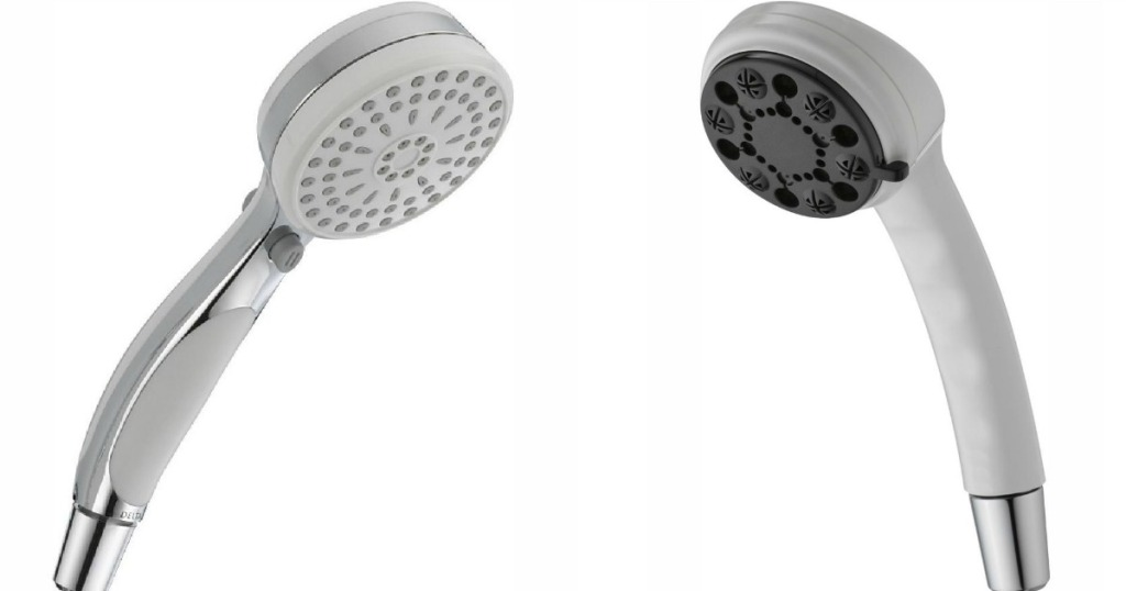 Two Delta Shower Heads facing each other
