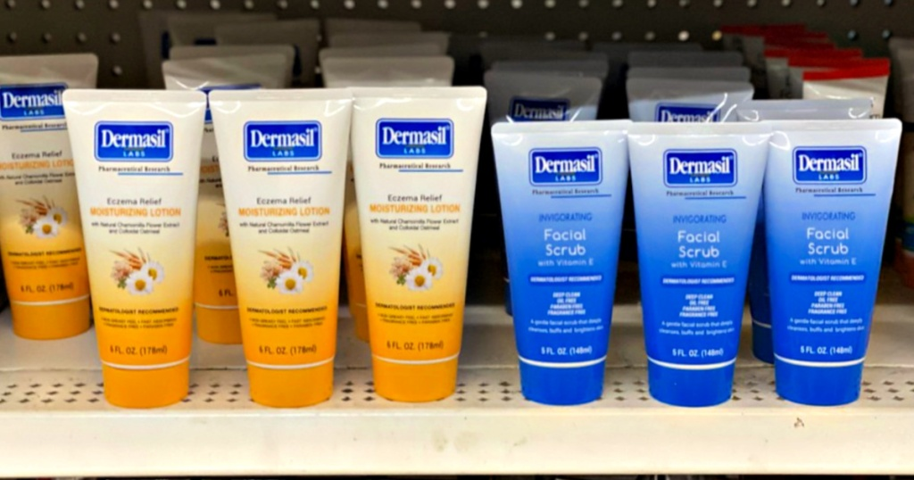 Dermasil Labs Products on shelf at Dollar Tree