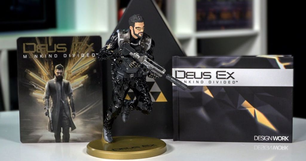 Deus Ex: Mankind Divided Collector's Edition with figurine, game and prism box