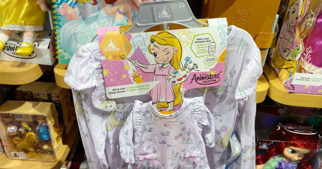 Disney Animators Rapunzel Pajamas on hanger