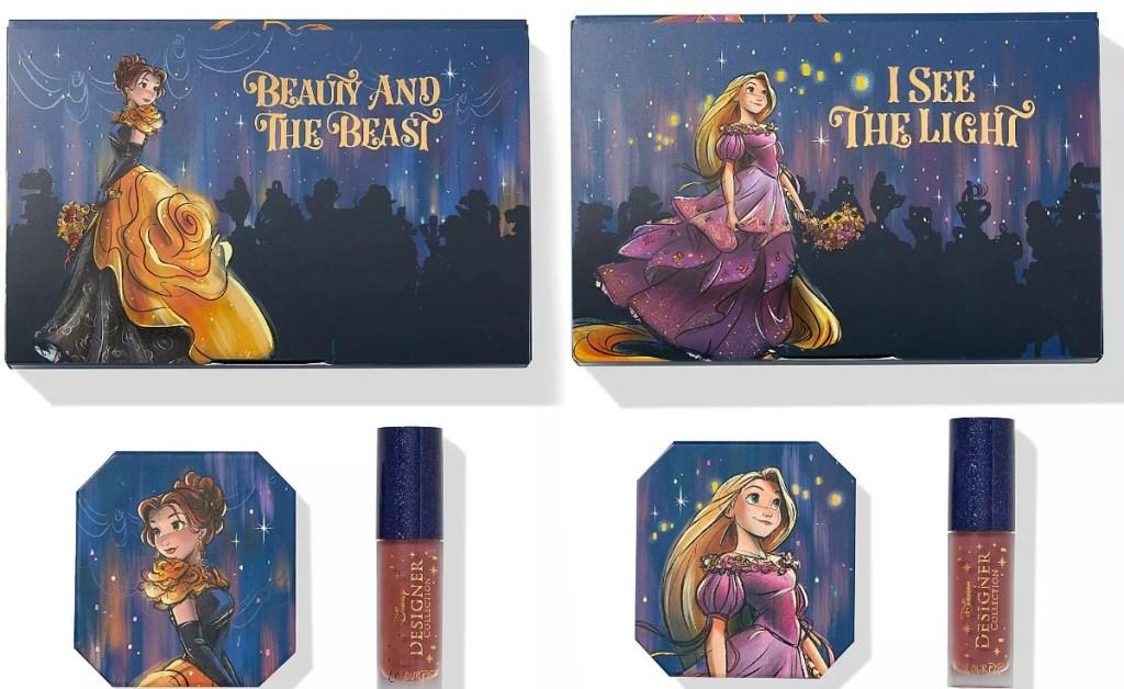 Two styles of Disney makeup sets - Belle & Rapunzel