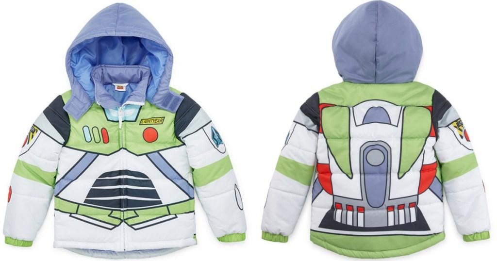 Disney Toddler Boys Toy Story Hooded Heavyweight Puffer Jacket