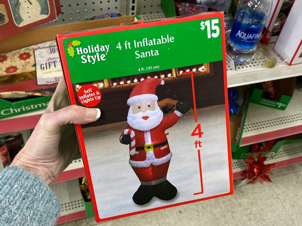 Holiday Style 4 foot inflatable santa dollar general