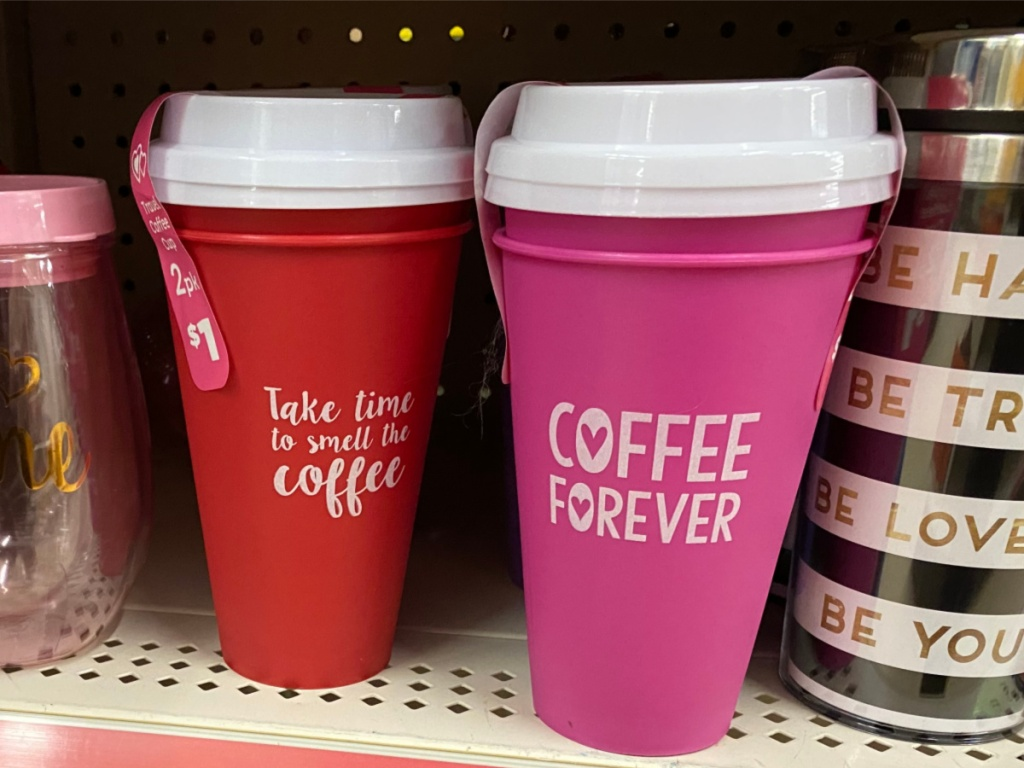 Valentine Dollar General Reusable Coffee Mugs