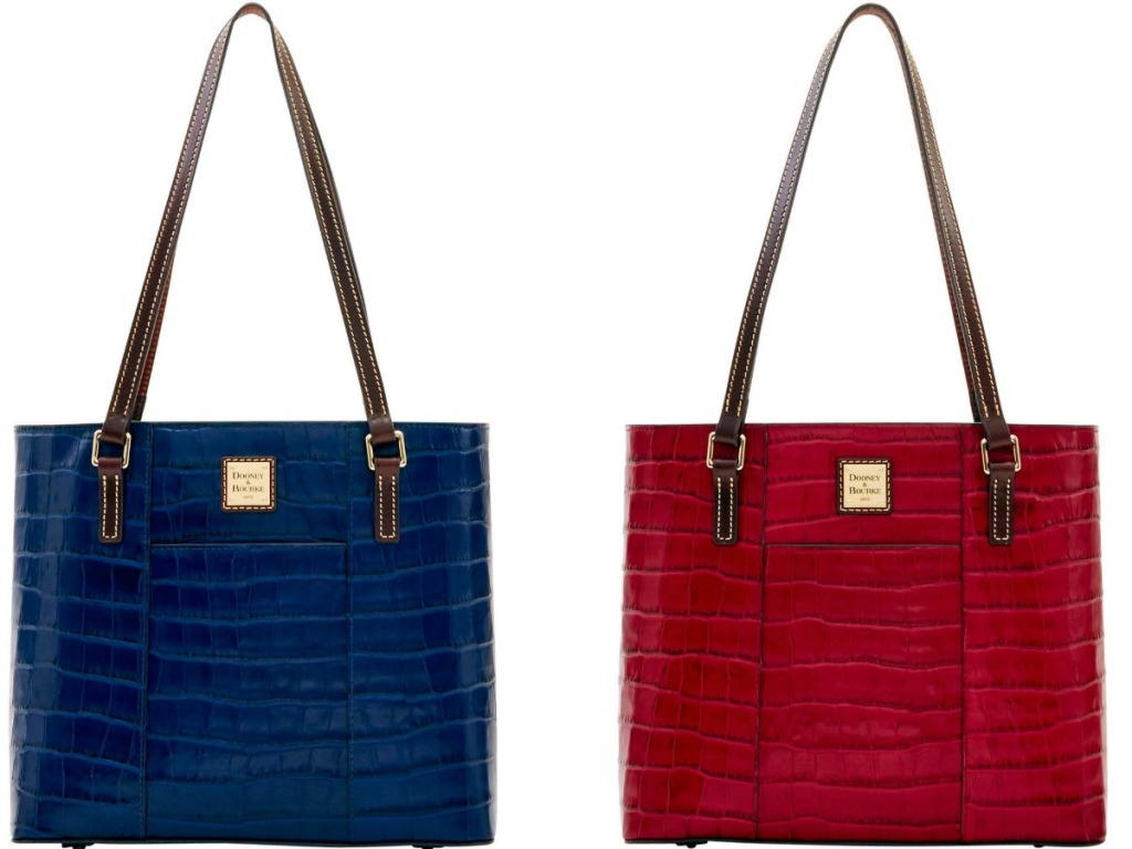 Two colors of Dooney & Bourke Oakdale Small Lexington Totes