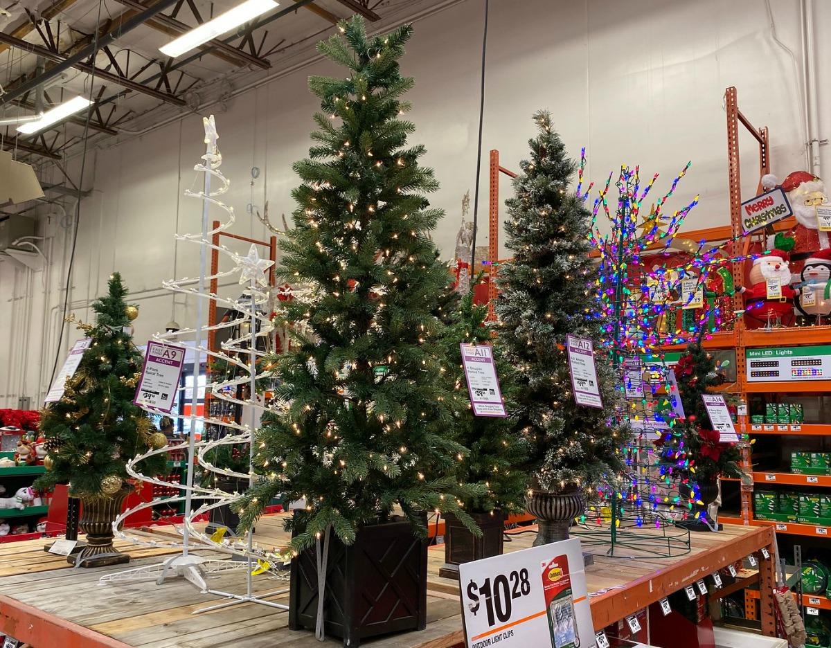 Home Depot Christmas Trees Artificial