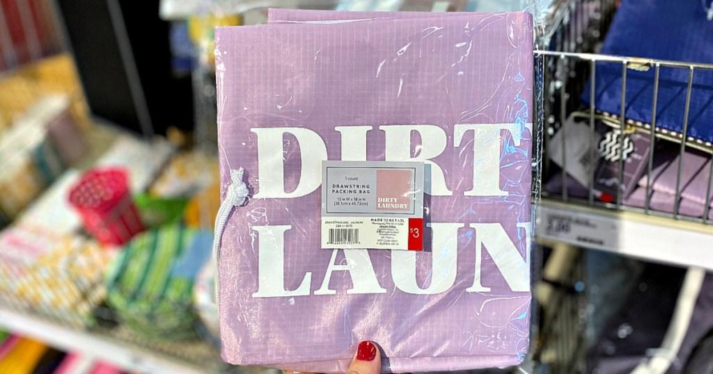 Drawstring Packing Bag in hand at Target