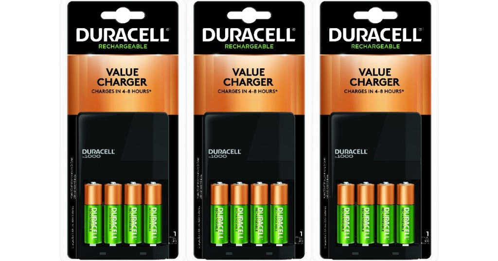 Duracell value charger with 4 batteries