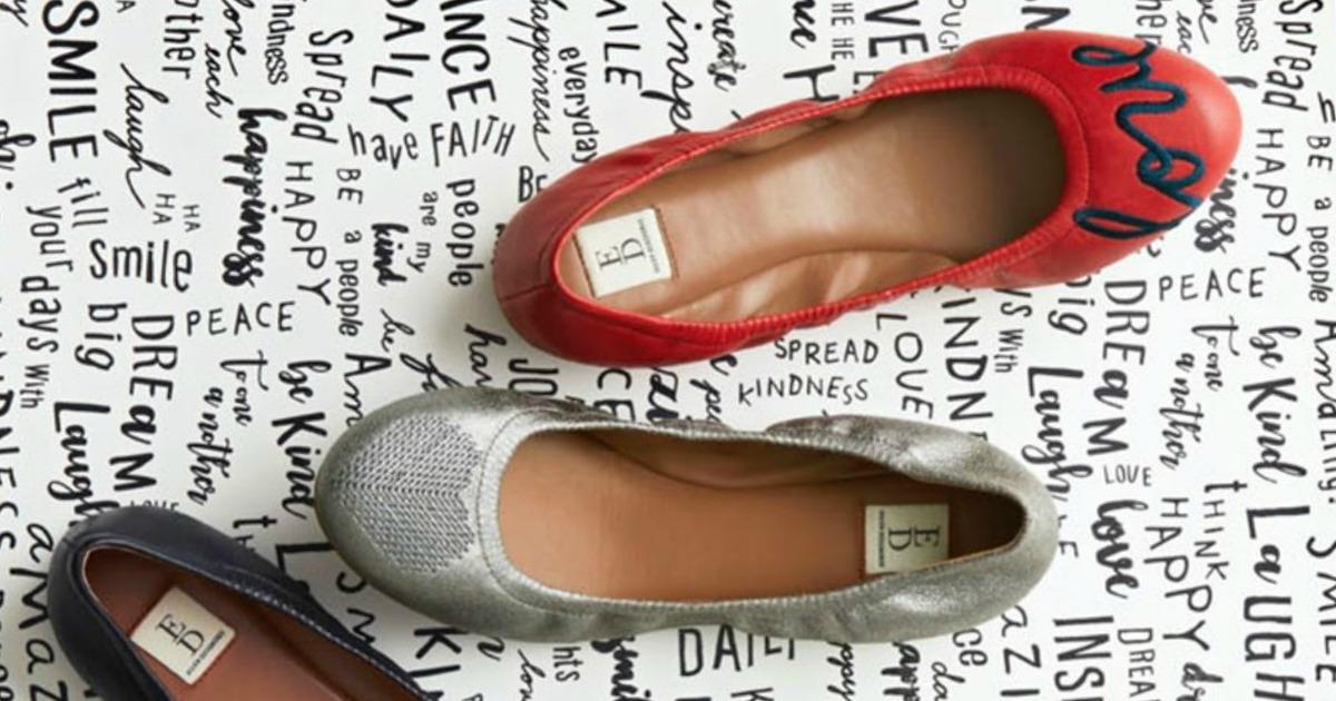 Ellen Degeneres Shoes sitting on paper with kind words written on it