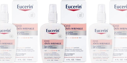 Eucerin Q10 Anti-Wrinkle Face Lotion Only $4.96 Shipped at Amazon