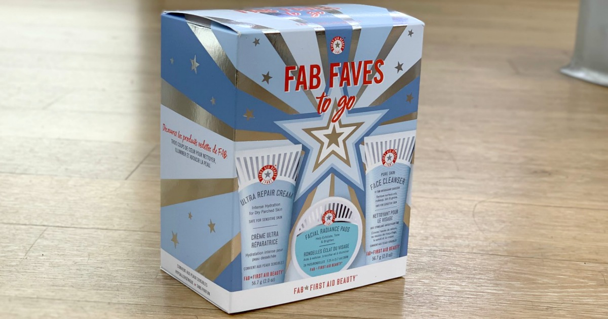 FAB Faves to go set in package on the floor